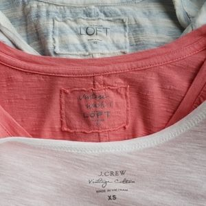 BUNDLE • Loft and J. Crew Tops